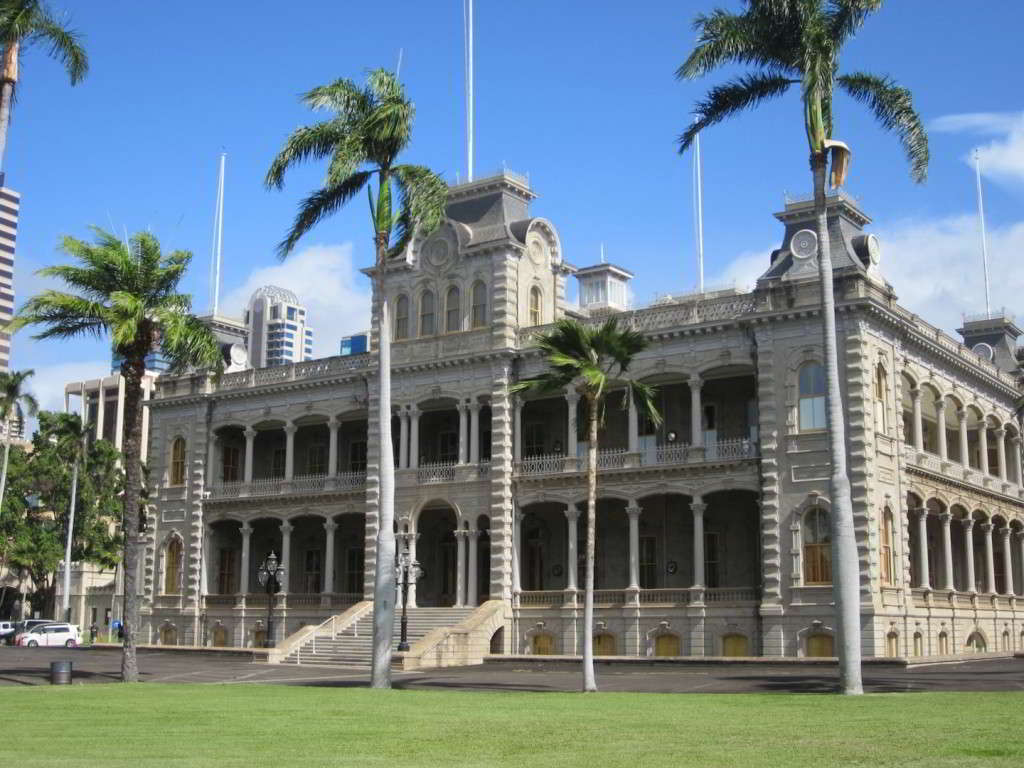 iolani palace Stately and dignified among the modern lines of skyscrapers in downtown honolulu, 'iolani palace remains the crown jewel of the hawaiian monarchy.