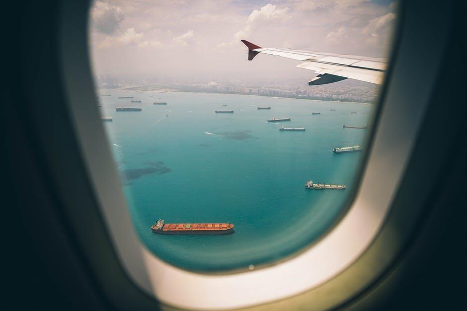 outside plane view