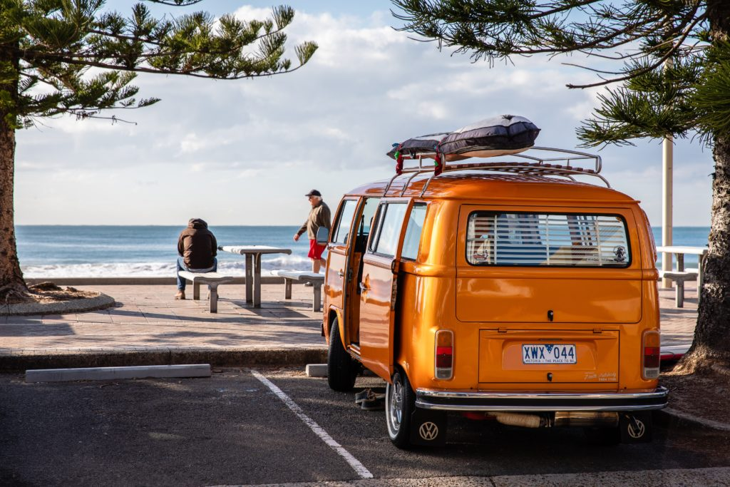 campervan near ocean