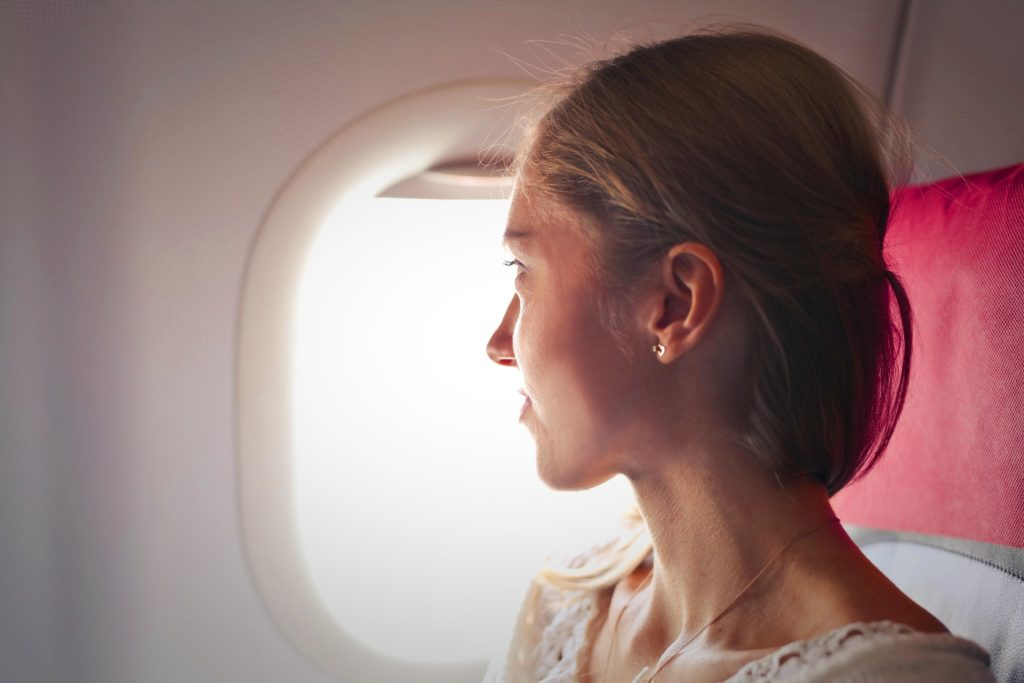 lady on flight