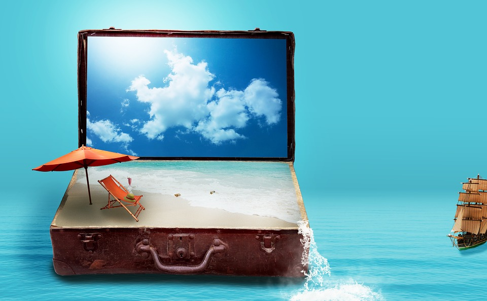 beach in a suitcase
