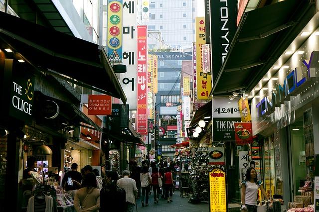 high Street in Seoul